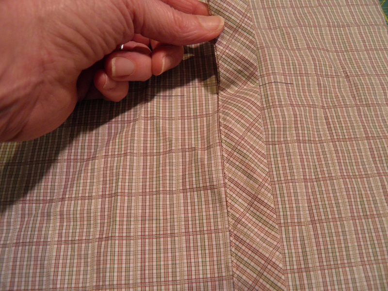 Wide placket on shirt sleeve