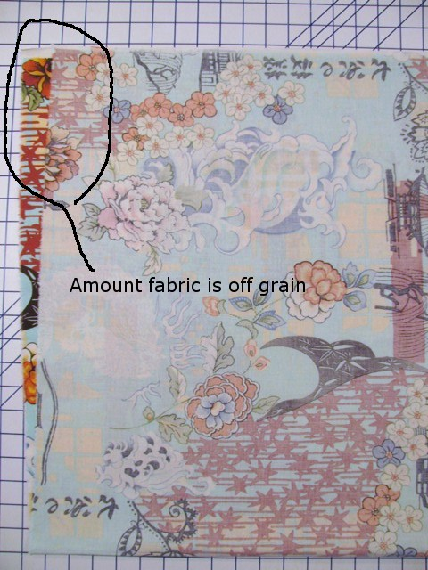 Fabric with an Amount Off-grain