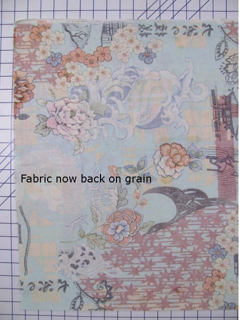 Fabric Back on Grain