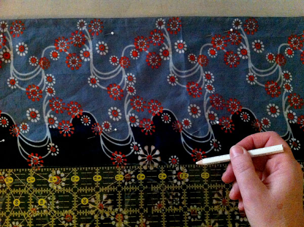Marking the Fabric - Sewing a Caftan Tutorial