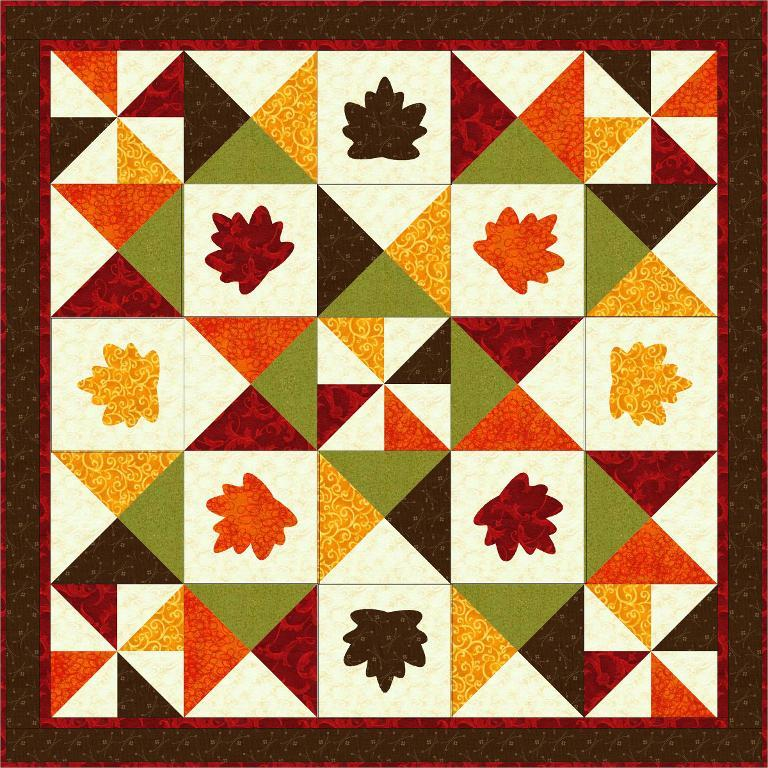 Autumn Leaves Quilt - Bluprint Member Pattern