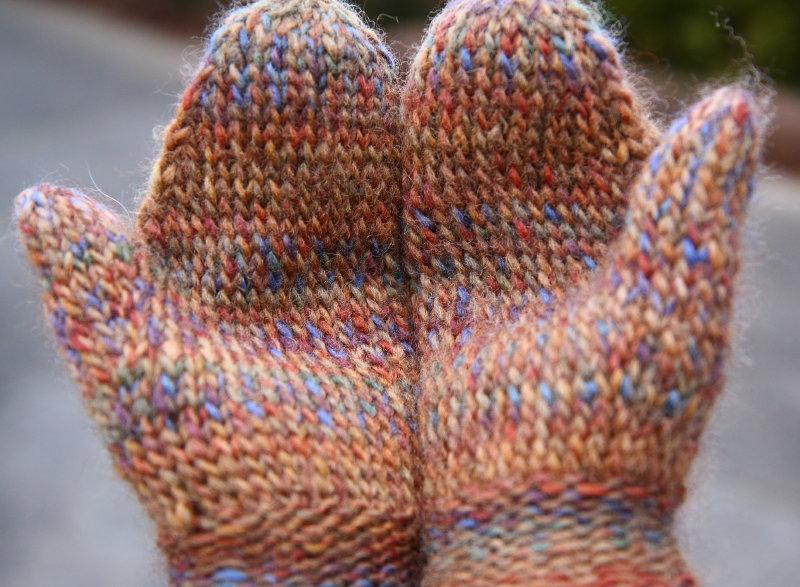 Basic Twined Knitted Mittens