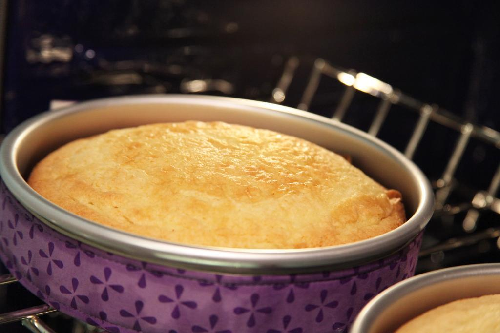 Cakes Baked, Still in Pans - How to Prepare a Cake Pan