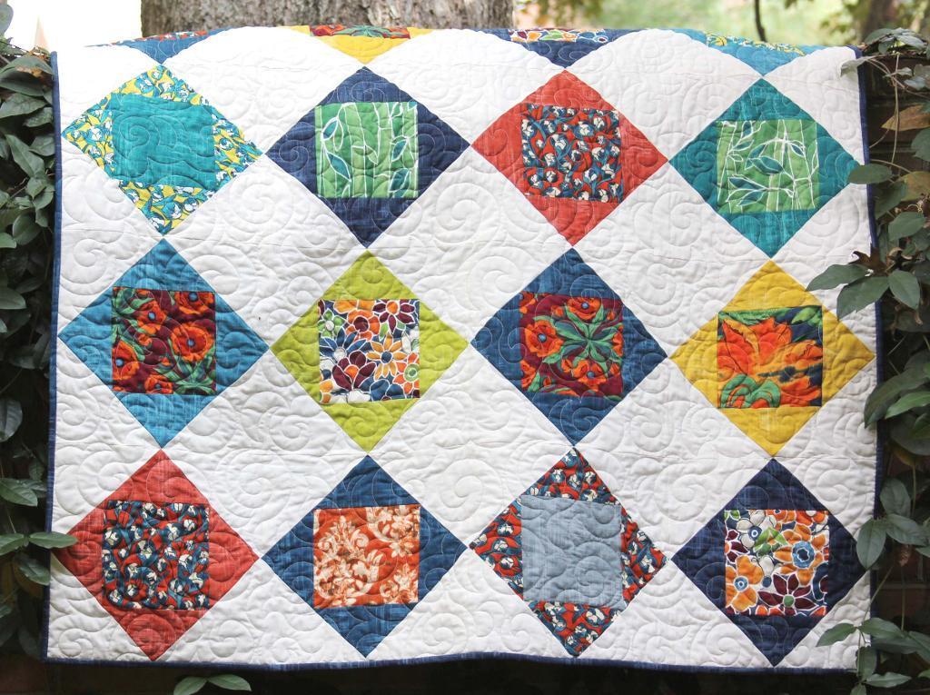 Garden Quilt - Free Pattern on Bluprint