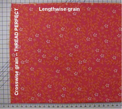Grainline of Fabric - Lengthwise and Crosswise