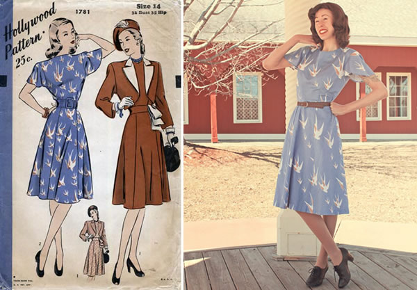 Vintage Pattern and Completed Garment