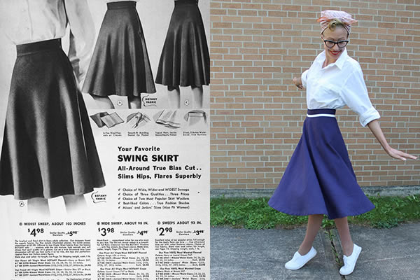 Swing Skirt - Pattern & Finished Skirt