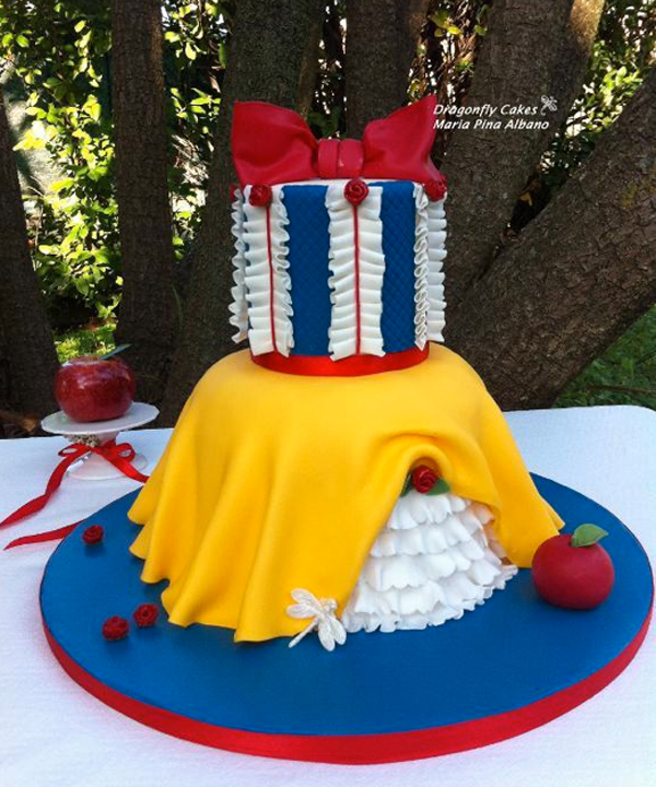 Ruffled Snow White Cake - Cake by Bluprint Member