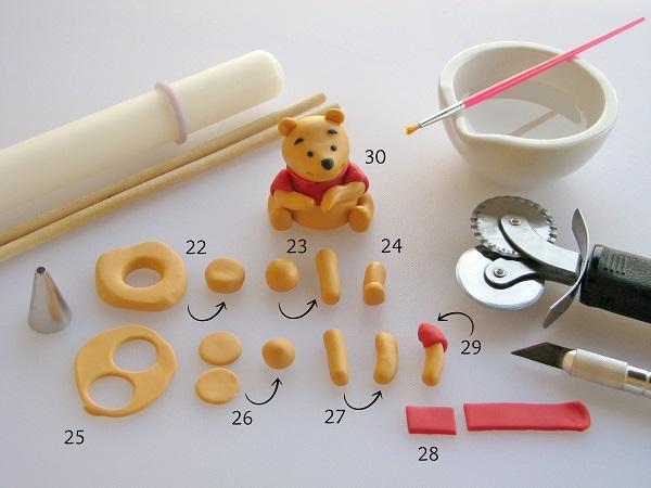 Sugar Winnie the Pooh - Adding Arms & Legs