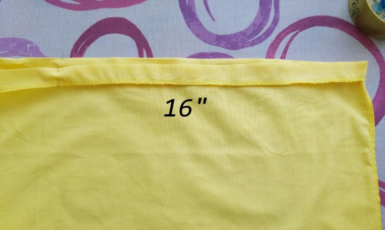 Tela con medida de 16
