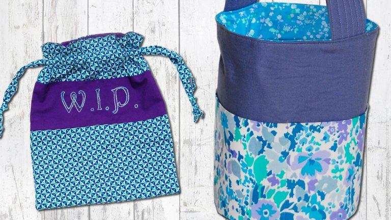 Fundamentos de la confección de bolsas: Bolsa con cordón y bolsa de cubo