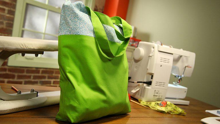 Fundamentos de la confección de bolsos: Tote reversible y bolsa con cremallera