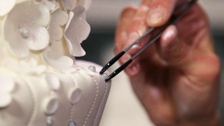 Diseño de pasteles sencillo: Vestido de novia