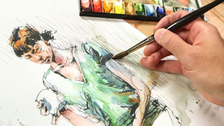 Dibujar personas en movimiento