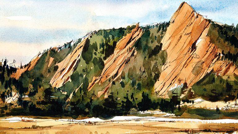 Dibujar paisajes con pluma, tinta y acuarela