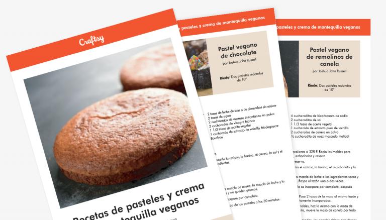 Guía de recetas de tartas y cremas de mantequilla veganas