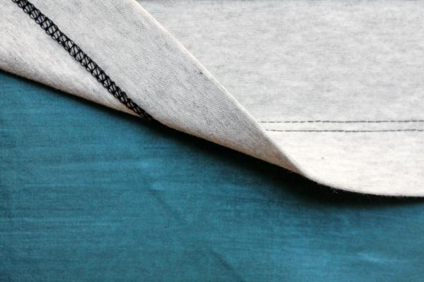 Dobladillo de tejido de punto con máquina de coser