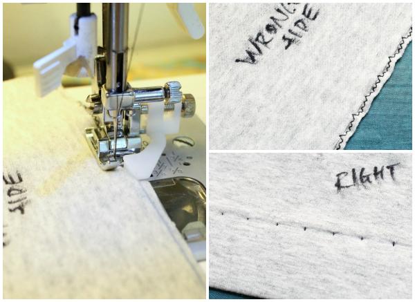 Costura de dobladillo ciego para tejidos de punto