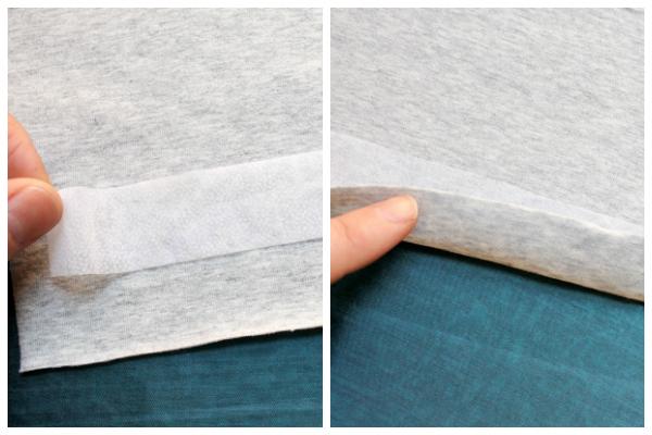 Entretela elástica fusible para estabilizar el tejido de punto