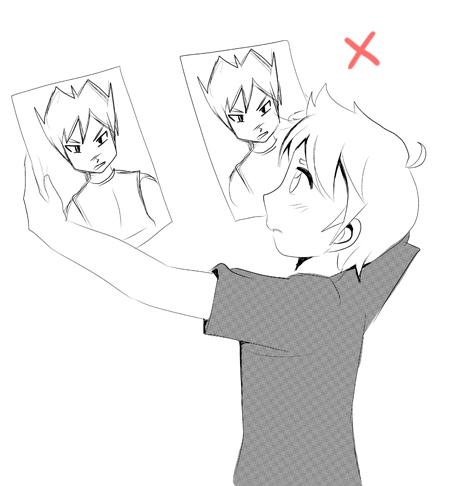 Copycat manga illustration