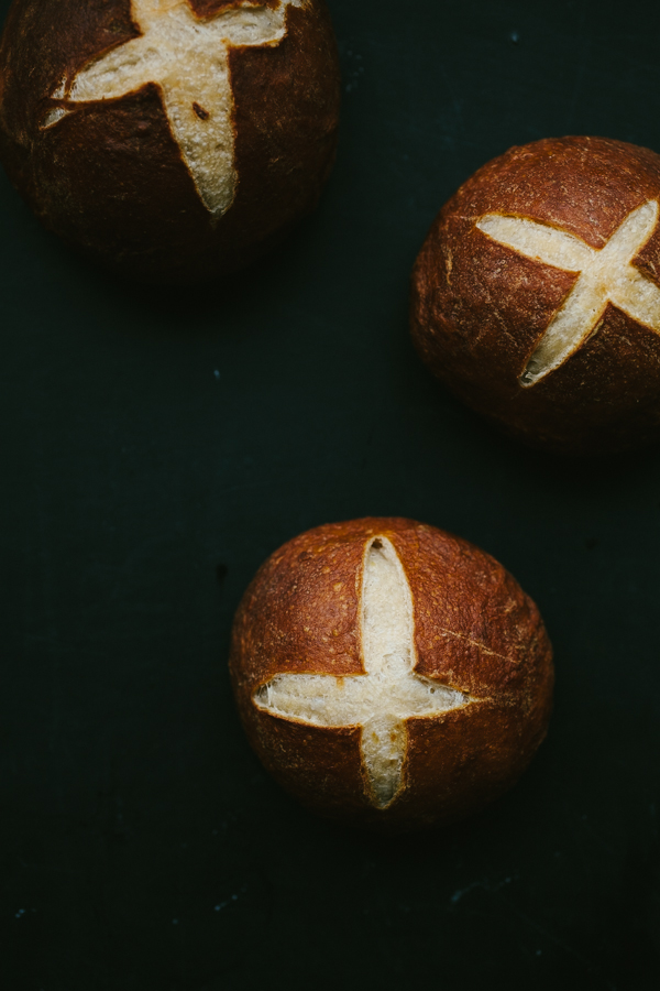Rollos de pretzel