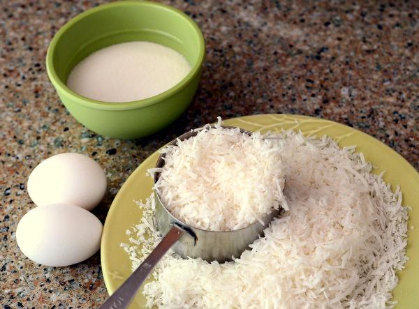 Ingredientes del macarrón de coco