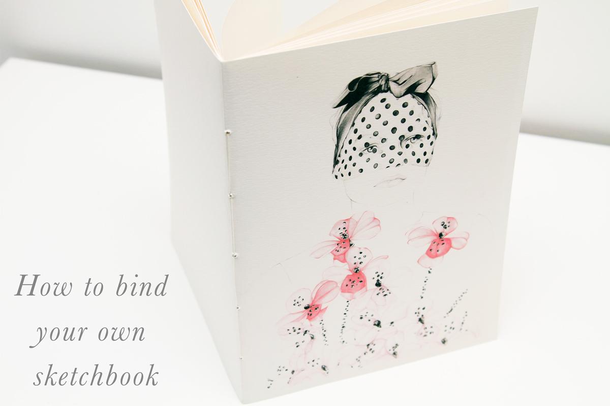 diy sketchbook saddle stitch