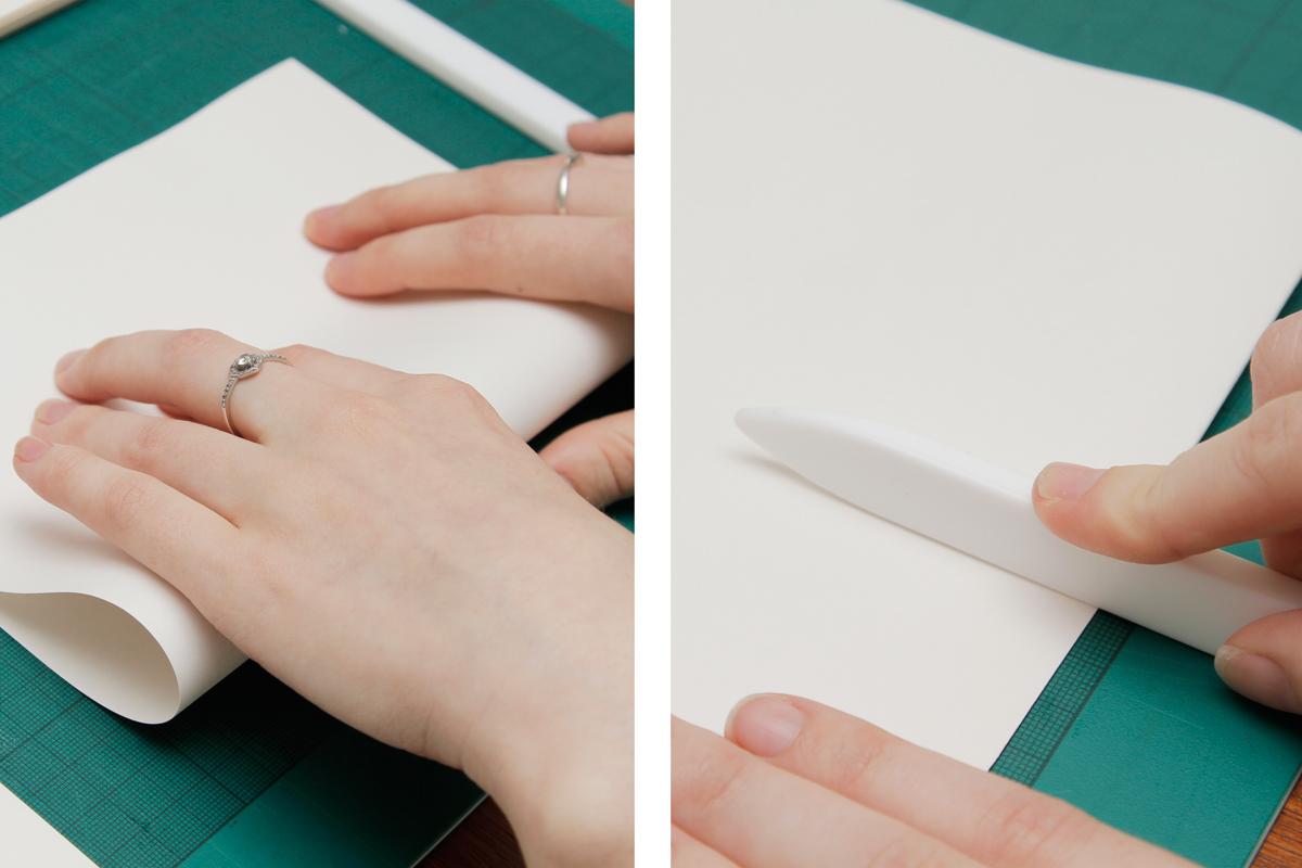 Bone Folding DIY Sketchbook Pages