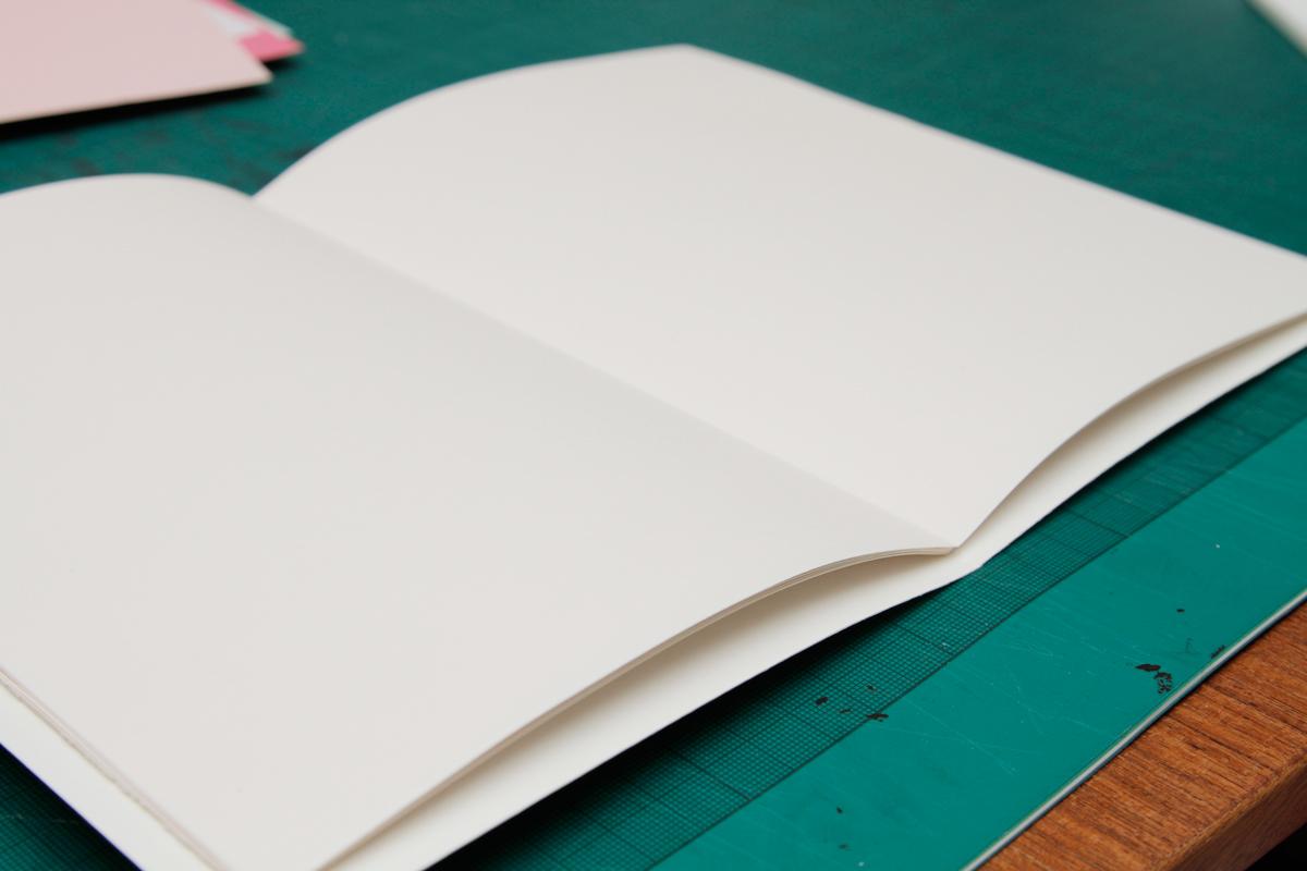 Montaje del cuaderno de dibujo