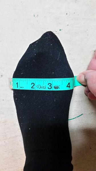 medir la anchura del pie