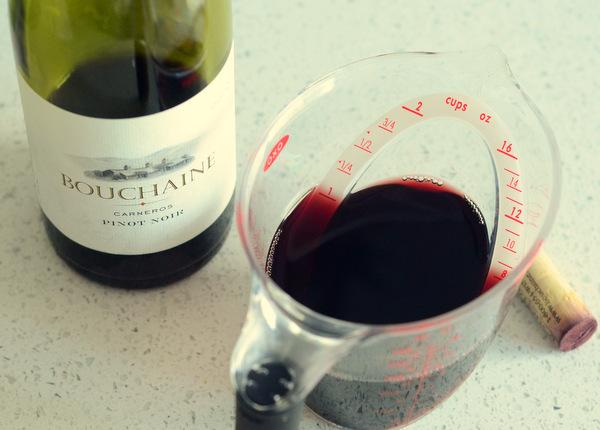 Tarta de vino tinto Pinot Noir