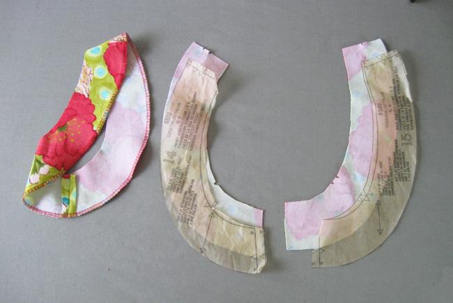 coser y planchar los frentes de sisa