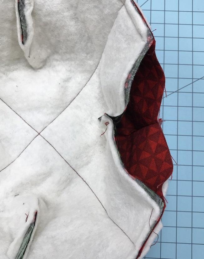 coser alrededor del exterior