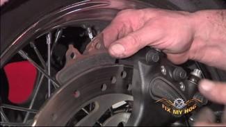 Motorcycle Rear Shock Adj, Wheel Removal