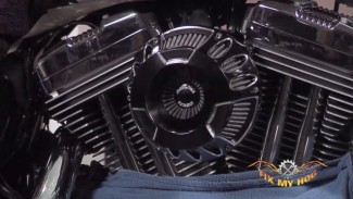 Arlen Ness Air Cleaner install on a Harley-Davidson