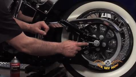 Softail Harley Belt Replacement - Removal Part 2 of 3