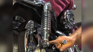 Harley Rear Shocks Adjustment & Drive Belt Service