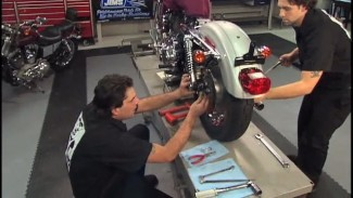Harley Sportster Rear Tire Removal & Replacement