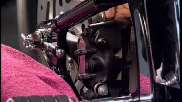 Harley Rear Brake Caliper and Pad Service