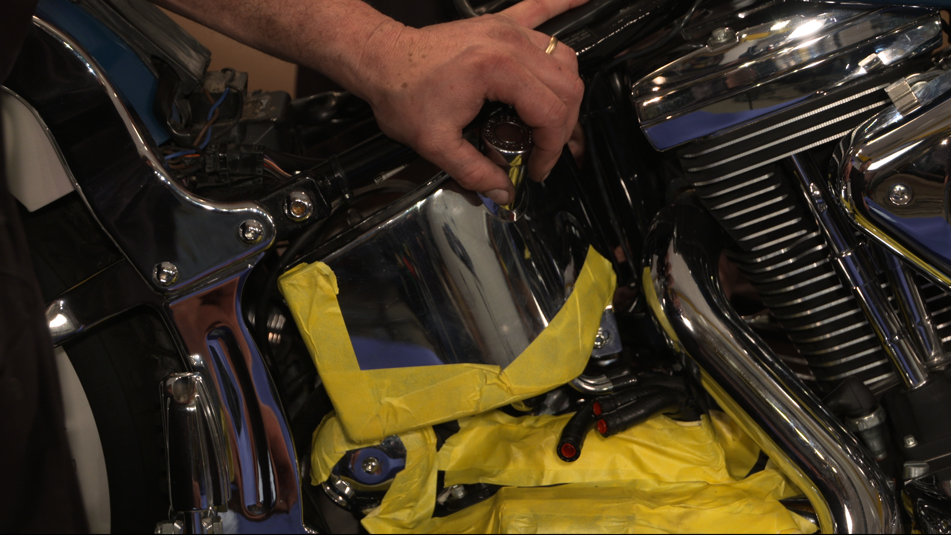 Harley Evo Softail Oil Tank Installation | Fix My Hog on