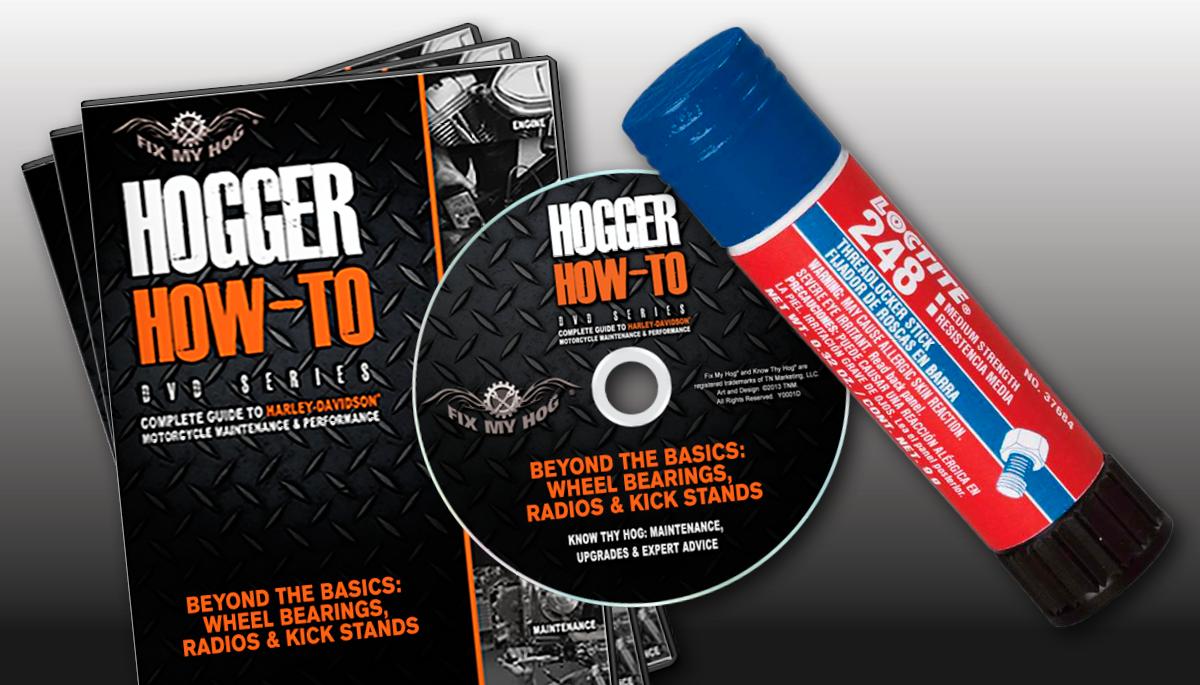 Hogger How To 3 Dvd Set Free Loctite Threadlocker Fix My Hog