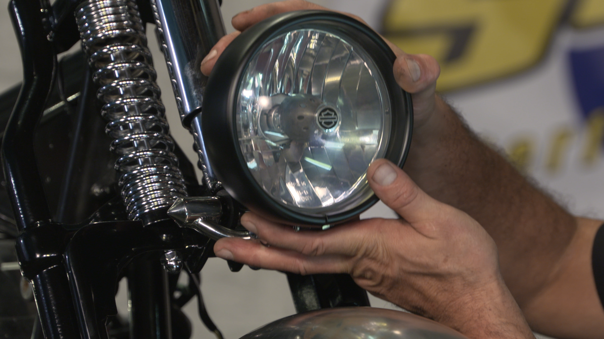 How to Install a Headlight cket | Fix My Hog Harley Davidson Springer Headlight Wiring Diagram on