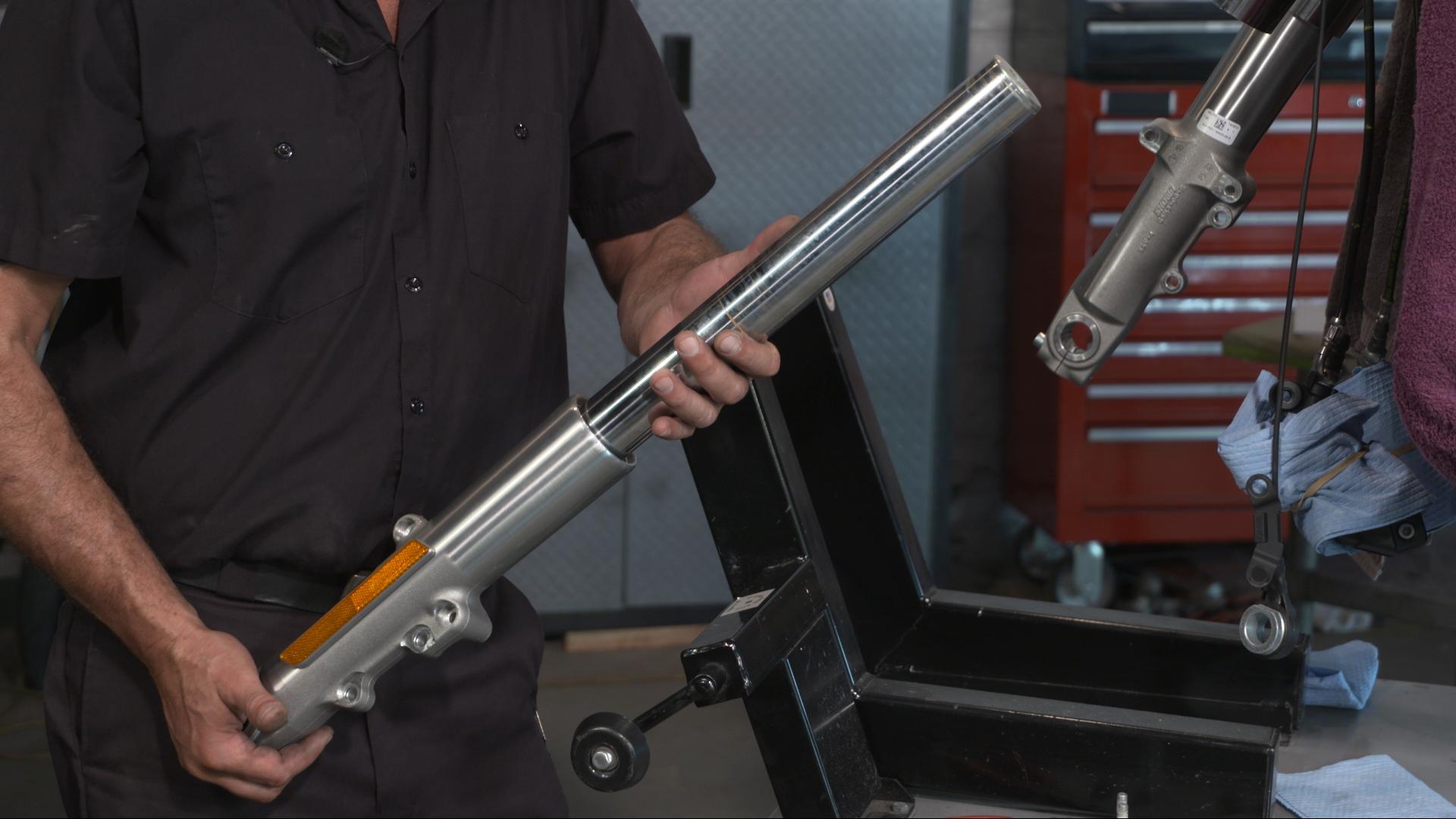 Harley Front Forks Removal