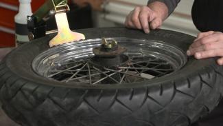 Harley Tire Change
