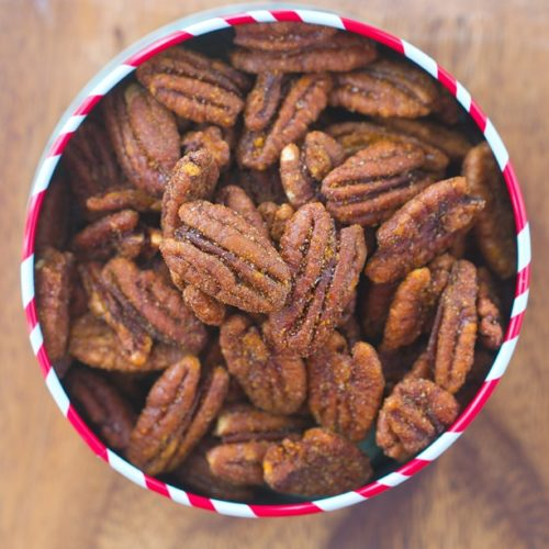 Easy Crockpot Cinnamon Pecans