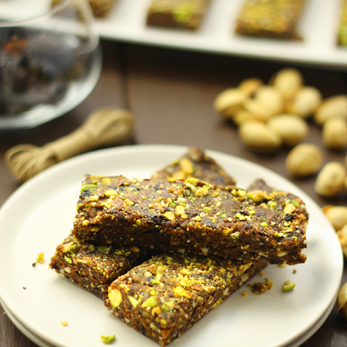 No Bake Cherry Pistachio Bars