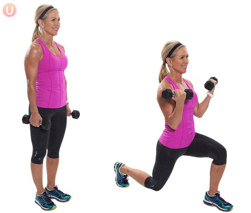 Forward-Lunge-with-Bicep-Curl-Exercise
