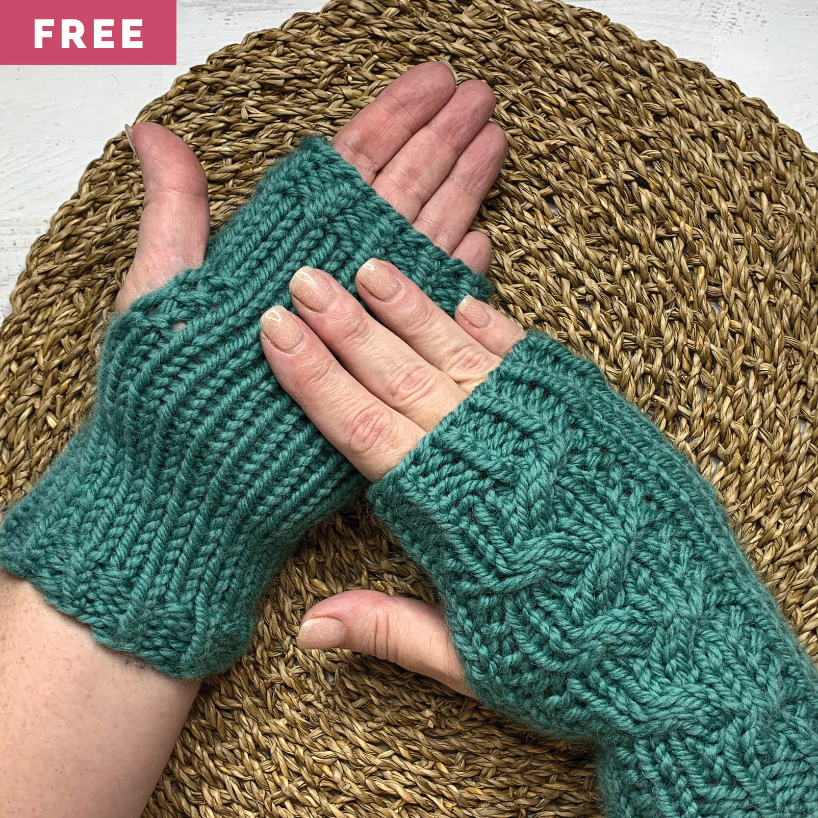Free Knitting Pattern - Braided Cable Mitts
