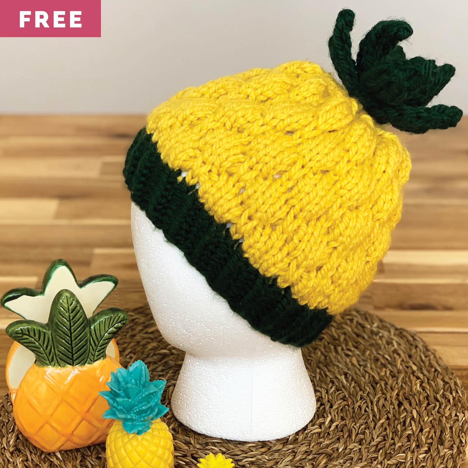 Free Knitting Pattern - Child's Pineapple Hat