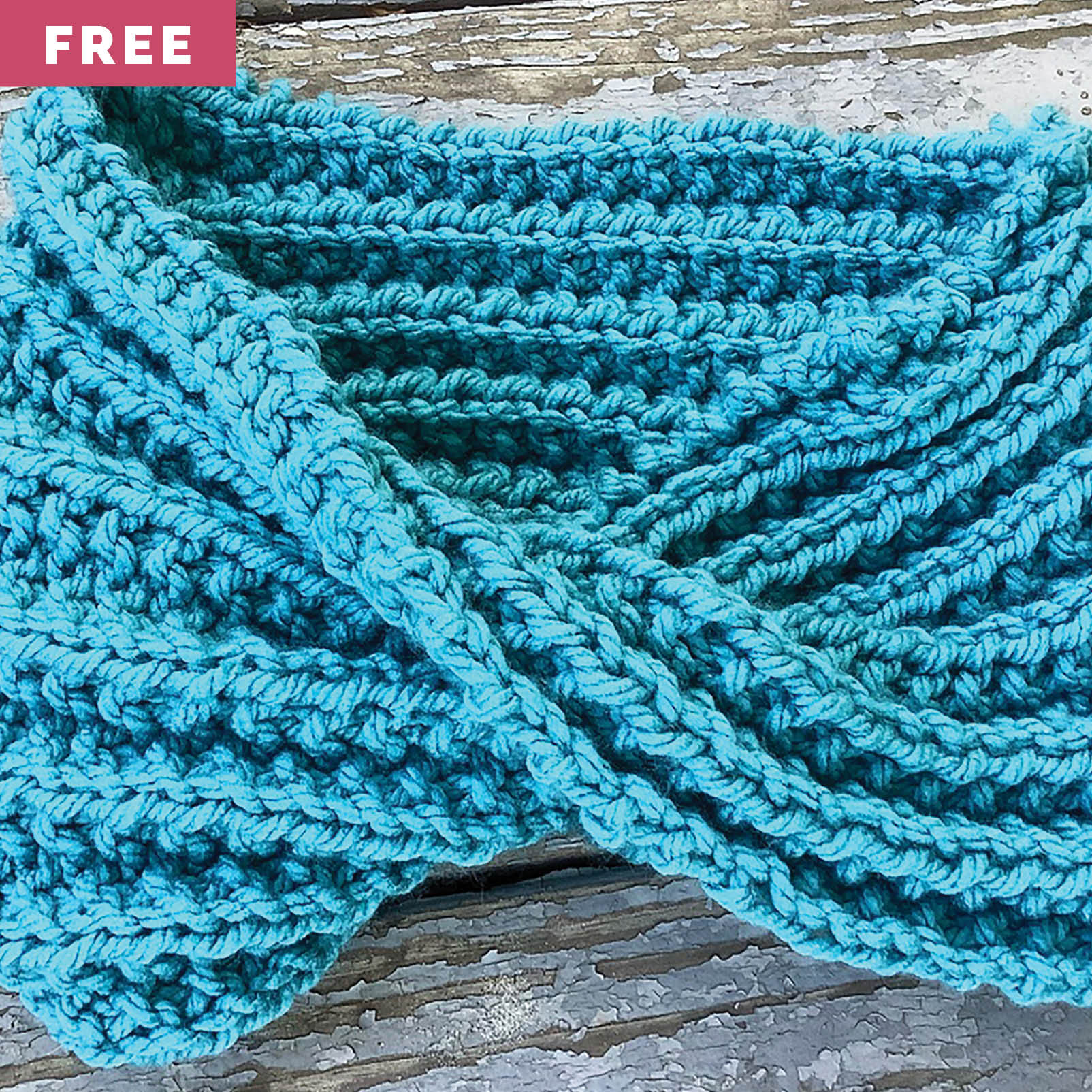 Free Knitting Pattern - Simple Textured Cowl